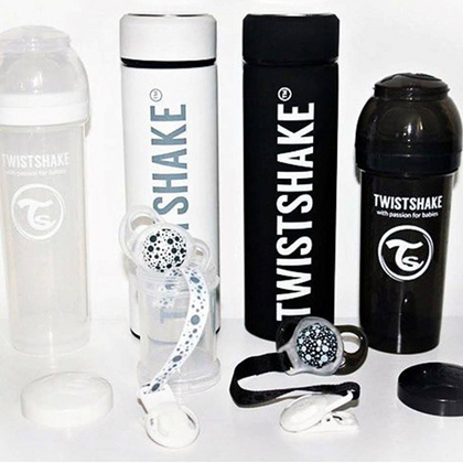 Hot or Cold - Twistshake® insulated bottle Black