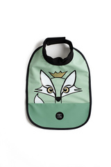 High neck bib Baby Livia - fox green