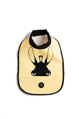 High neck bib Baby Livia - moose yellow