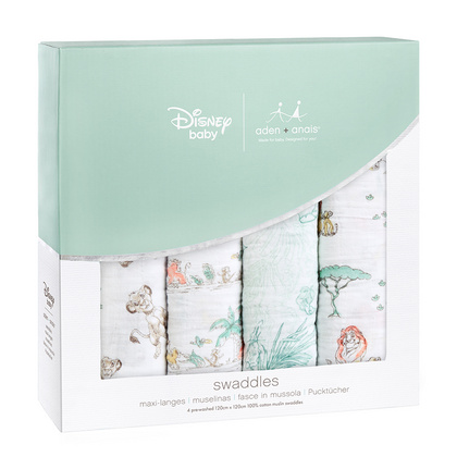 Aden+Anais® Disney The Lion King swaddle set 4-pack 120x120