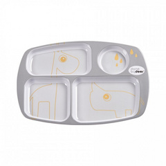 Compartment plate Contour grey/gold - Done by Deer