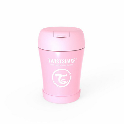 Twistshake® Stainless Steel Food Container pink