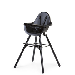 Childhome Evolu 2 high chair black/black 2in1 + bumper