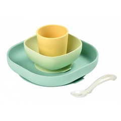Beaba Silicone Meal Set (4 pcs) - Pastel