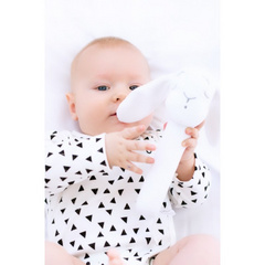 Effiki rattle bunny white
