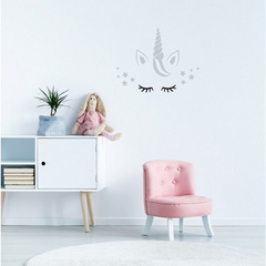 "Wall Sticker "" Unicorn with stars"""