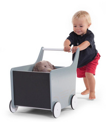 Childhome wooden stroller , toy box