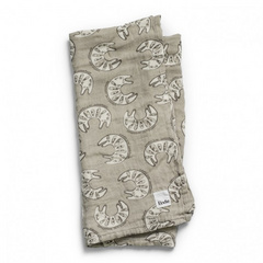 Elodie Bamboo Muslin Blanket Kindness Cat