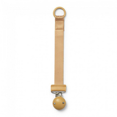 Pacifier Clip Wood Elodie - Gold