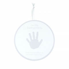 Pearhead My Little Baby Prints Tin Grey