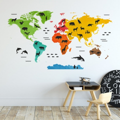 Wall stickers world map Yokodesign®