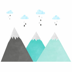 Wall stickers mountain Yokodesign®
