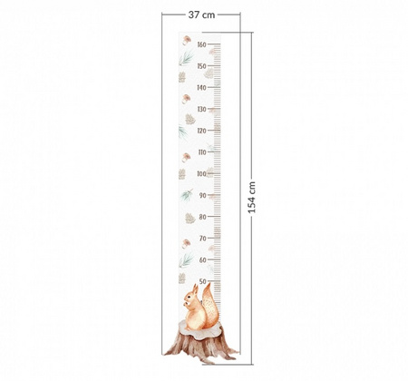 Wall stickers Yokodesign® - Height Measurement squirrel