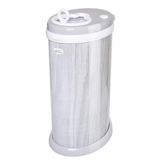 Ubbi Diaper Pail - Grey wood grain