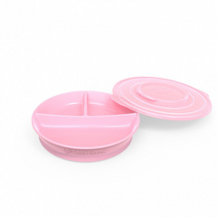 Twistshake® divided plate Pink