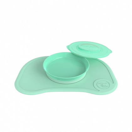 Twistshake Click-Mat and plate (6+M) Pastel Green