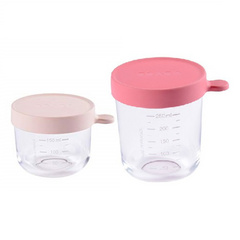 beaba set of 2 glass container