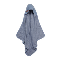 Hooded towel Little Dutch - Pure Blue