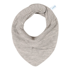 Bandana bib Little Dutch - Pure Grey