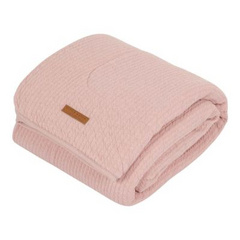Bassinet blanket pure & soft Little Dutch - Pure Pink 70x100