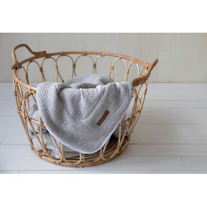 Bassinet blanket pure & soft Little Dutch - Pure Grey 70x100