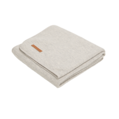 Cot Summer Blanket Little Dutch - Pure Grey 110x140