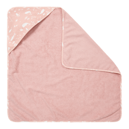 Hooded towel Little Dutch - Ocean Pink