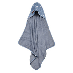 Hooded towel Little Dutch - Ocean Blue
