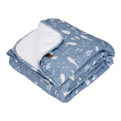 Bassinet blanket pure & soft Little Dutch - Ocean Blue 70x100