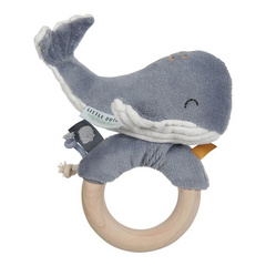 Ring rattle Whale Little Dutch - Ocean Blue