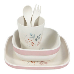 Bamboo kids tableware set Little Dutch - Pink