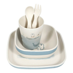 Bamboo kids tableware set Little Dutch - Blue