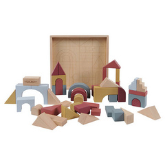 Wooden building blocks Pure & Nature Little Dutch