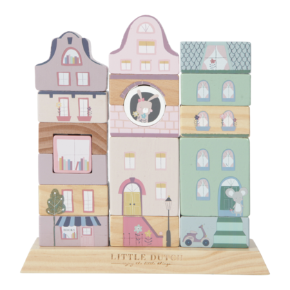 Stacking blocks facades Little Dutch - Pink