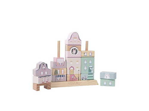 Kocke za gradnjo Little Dutch - Pink