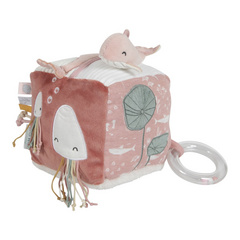 Soft activity cube Little Dutch - Ocean Pink