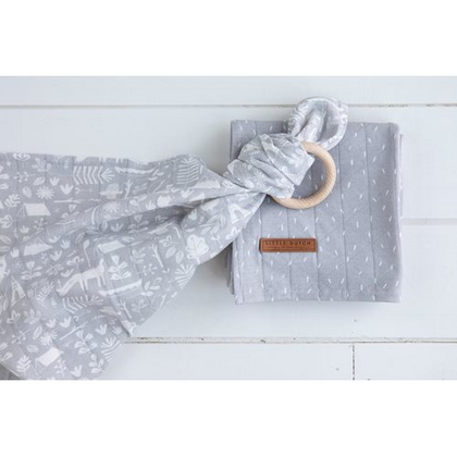 Swaddle Little Dutch 120x120 Adventure Grey