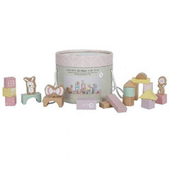 Building blocks in bucket Adventure pink Little Dutch