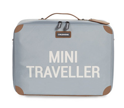 Childhome Mini Traveller Kids Suitcase - Grey Off White