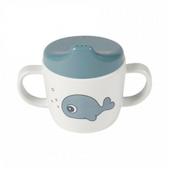 2-handle spout cup Sea friends Blue - Done by Deer