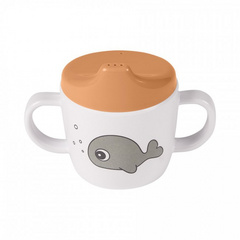 2-handle spout cup Sea friends Mustard/Grey - Done by Deer