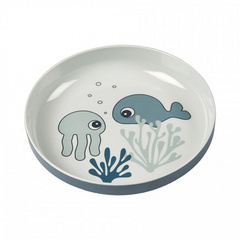 Yummy mini plate Sea friends Blue - Done by Deer