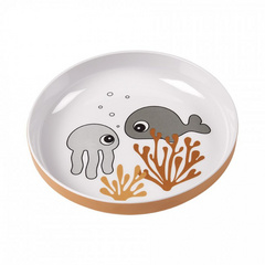 Yummy mini plate Sea friends Mustard/Grey - Done by Deer