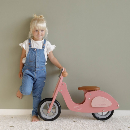 Wooden Balance bike Scooter Little Dutch - Pink