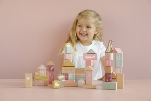 Building Blocks Little Dutch - Little Goose Pink