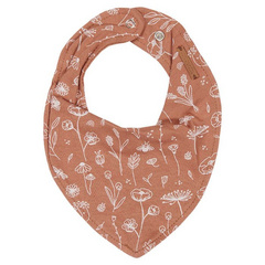 Bandana bib Little Dutch - Wild Flowers Rust
