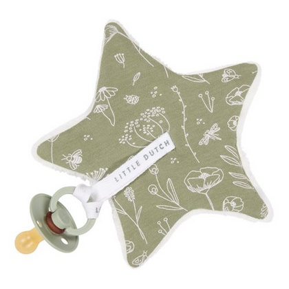Pacifier cloth Little Dutch - Wild Flowers Olive