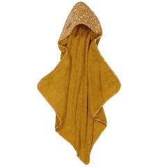 Hooded towel Little Dutch - Wild Flowers Ochre
