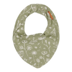 Little Dutch Bandana bib - Wild Flowers Olive