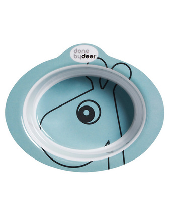 Done by Deer - Anti-slip bowl, Contour Blue